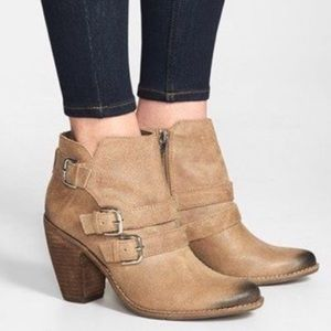 Dolce Vita Colten Taupe Suede Ankle Boots